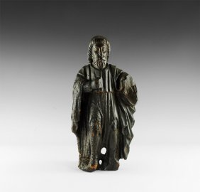 Medieval Carved 'ripon Cathedral' Figure
