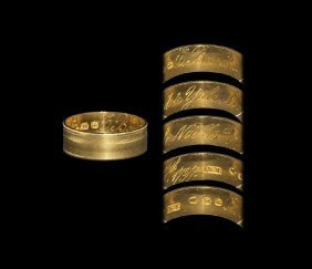 Post Medieval Gold Marriage Celebration Ring Of James