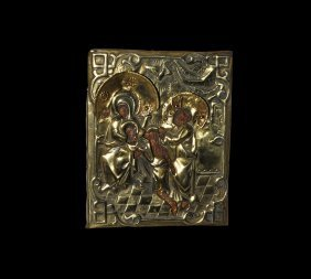 Post Medieval Russian Icon Of After The Crucifixion