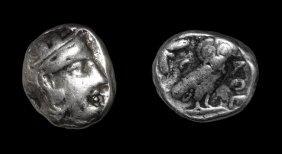Ancient Greek Coins - Attica - Athens - Owl Tetradrachm