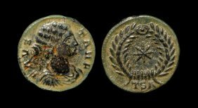 Ancient Roman Imperial Coins - Fausta - Wreath Follis
