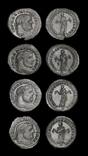 Ancient Roman Imperial Coins - Maximian And Constantius