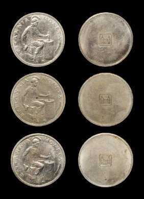 English Milled Coins - Elizabeth Ii - 1970s - Royal