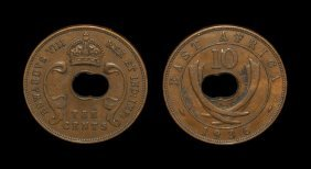 World Coins - East Africa - Edward Viii - 1936 - 'hole