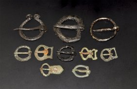 Viking To Medieval Buckle And Brooch Group