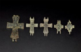 Byzantine Reliquary Cross Pendant Group