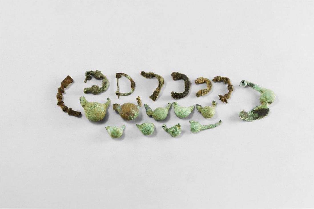 Greek Brooch Fragment Group