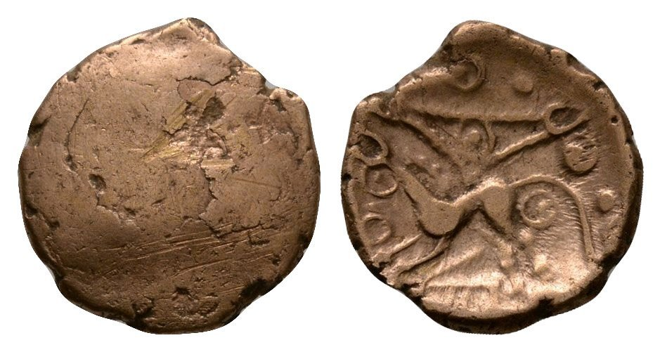 Celtic Iron Age Coins - Cantiaci - Early Uninscribed -