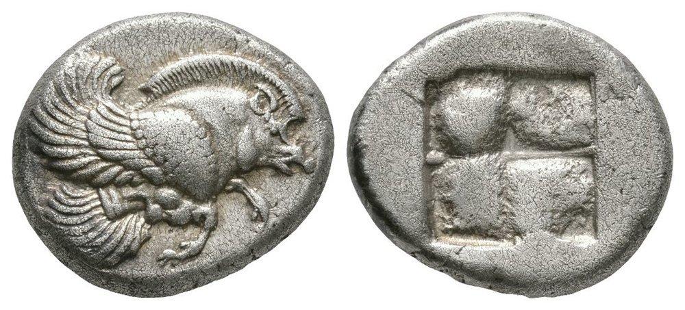 Ancient Greek Coin - Klazomenai Ionia - Winged Boar