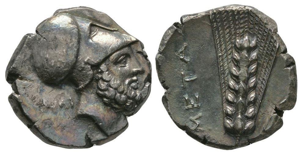 Ancient Greek Coins - Lucania - Metapontum - Leukippus