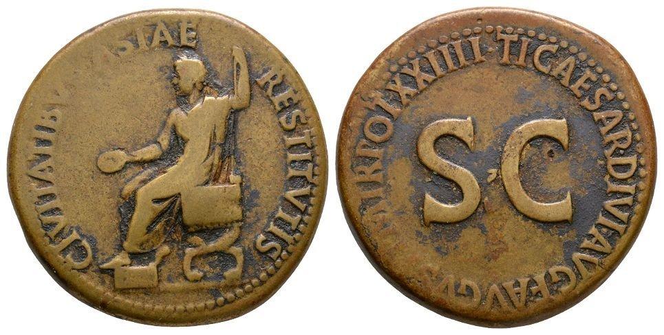 Ancient Roman Imperial Coins - Tiberius - Emperor