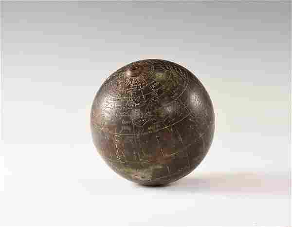 Post Medieval Bronze Inscribed Globe
