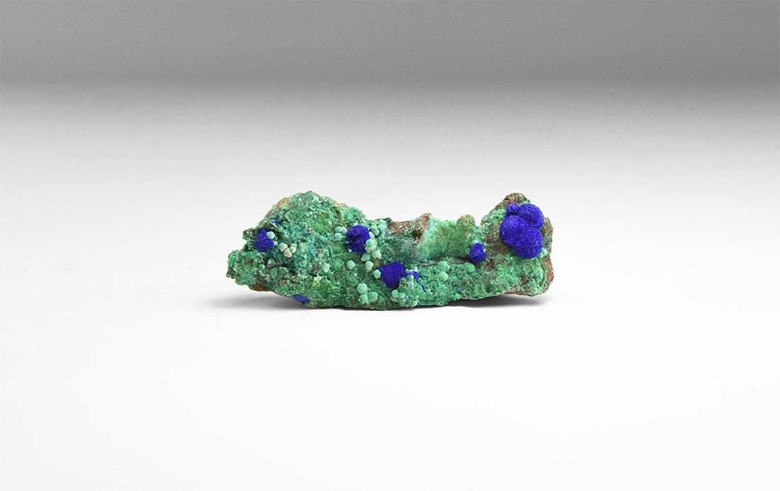 Azurite on Malachite Mineral Specimen.