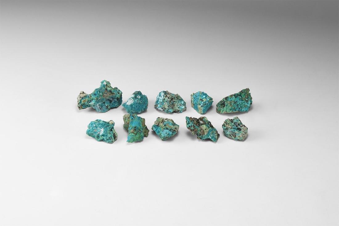 Chrysocolla Mineral Specimen Group.