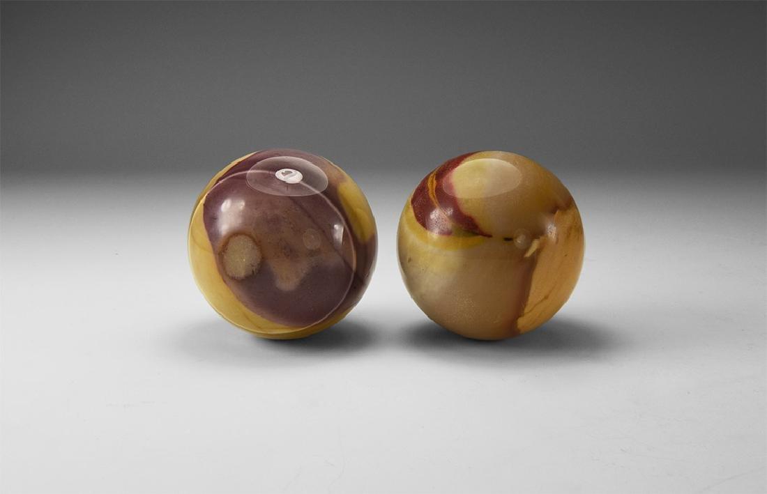Jasper Sphere Pair.