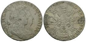 Milled - William and Mary - 1692/2 - Overdate Crown