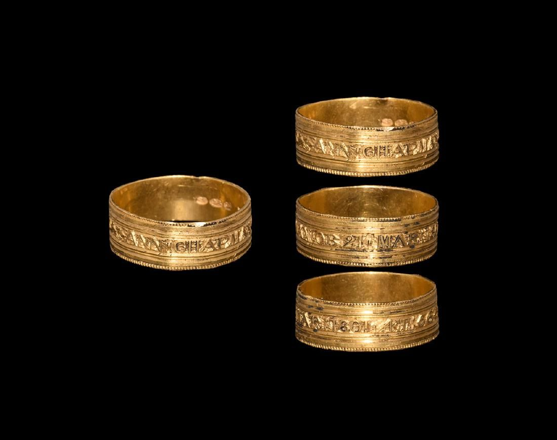 Post Medieval Gold Memorial Ring for Ann Chapman