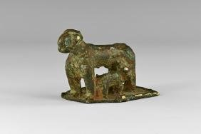 Indian Goat and Kid Statuette