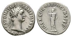 Imperial Coins - Domitian - Minerva Denarius