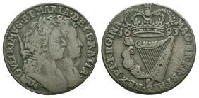 World - Ireland - William & Mary - 1693 - Halfpenny
