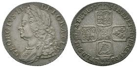English Milled Coins - George II - 1758 - Shilling