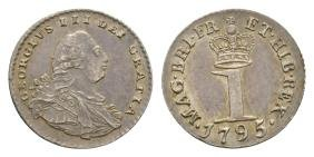 English Milled Coins - George III - 1795 - Silver Penny