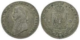 World - German States - Prussia - 1802 - 1/3 Thaler