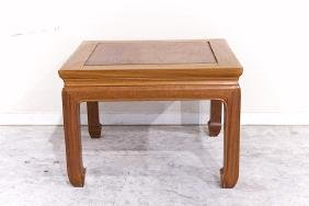 SMALL CHINESE SQUARE HARDWOOD LOW TABLE
