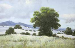 OIL ON CANVAS PAINTING OF A LANDSCAPE