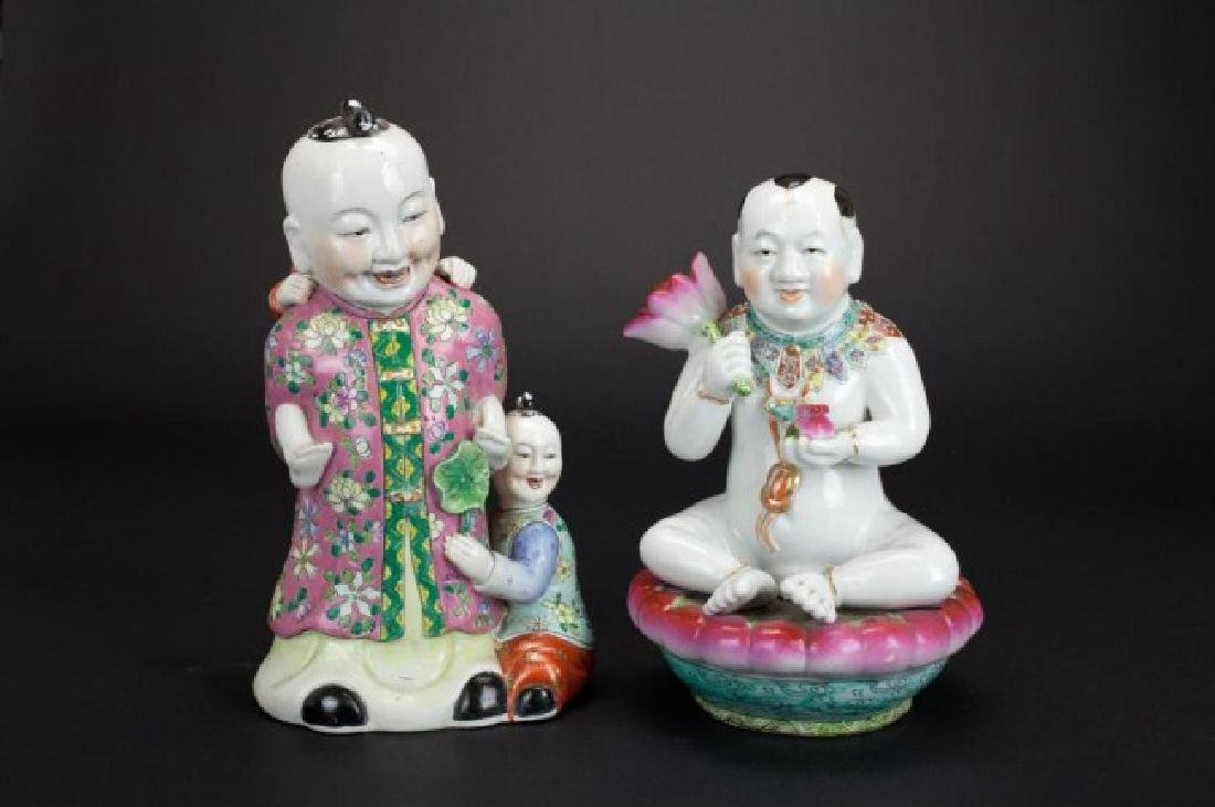 TWO CHINESE PORCELAIN FIGURINES