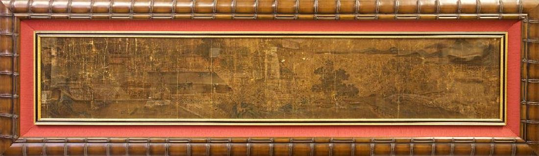 FRAMED CHINESE MING PERIOD LANDSCAPE PAINTING