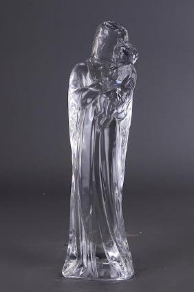 GLASS BLESSED VIRGIN MARY BY BACCARAT
