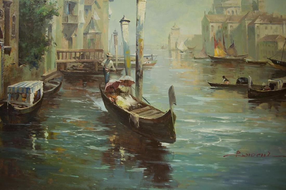 LARGE OIL ON CANVAS PAINTING OF VENICE, ITALY - 3