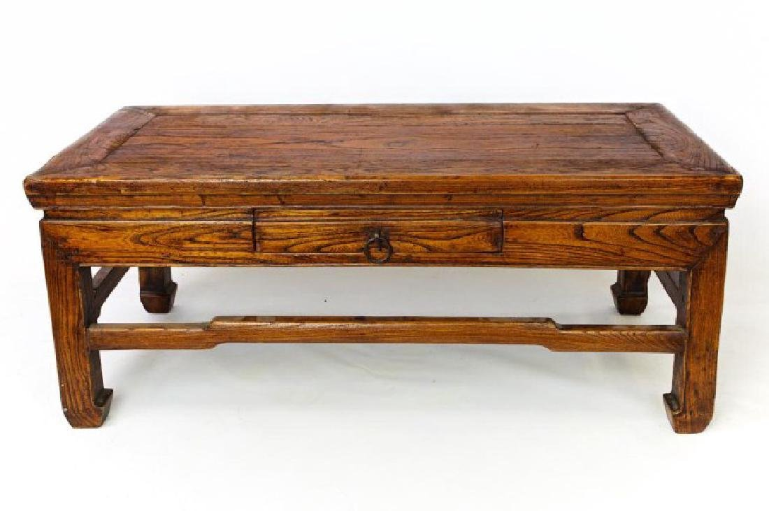 ANTIQUE CHINESE CARVED WOOD LOW TABLE