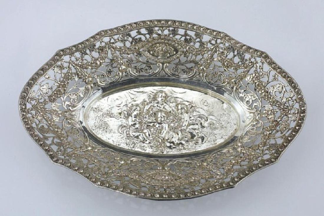 BEAUTIFUL PIERCED FRENCH STERLING DISH