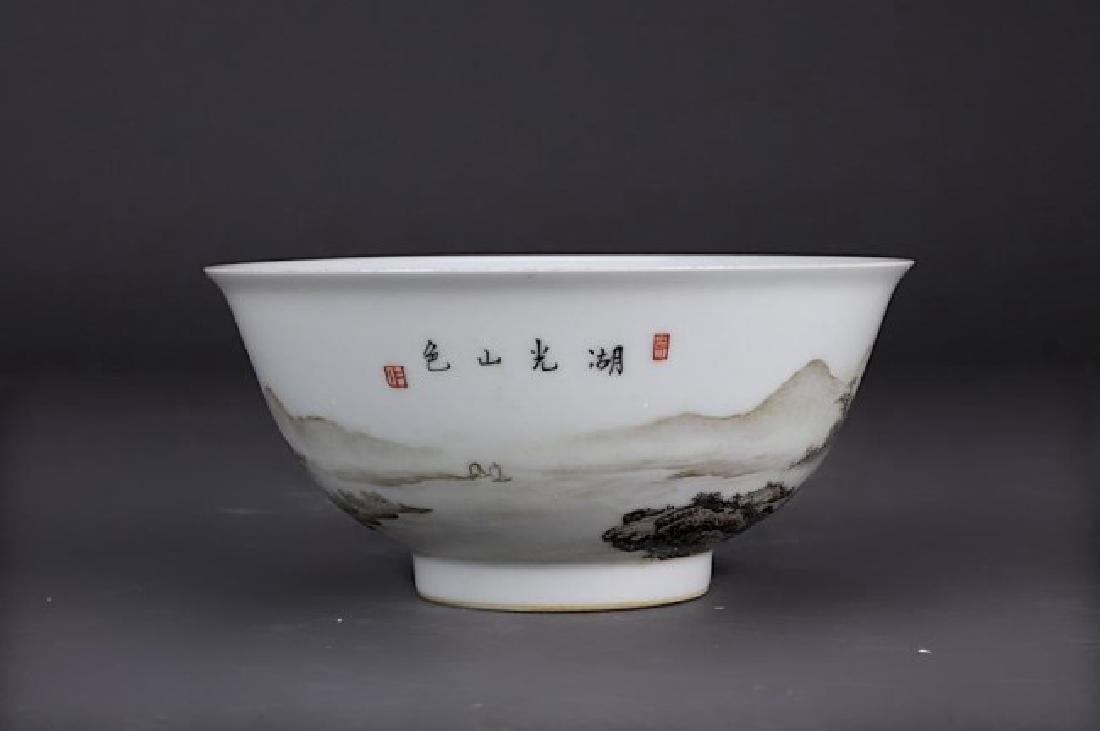 CHINESE ENAMEL PORCELAIN BOWL - 2