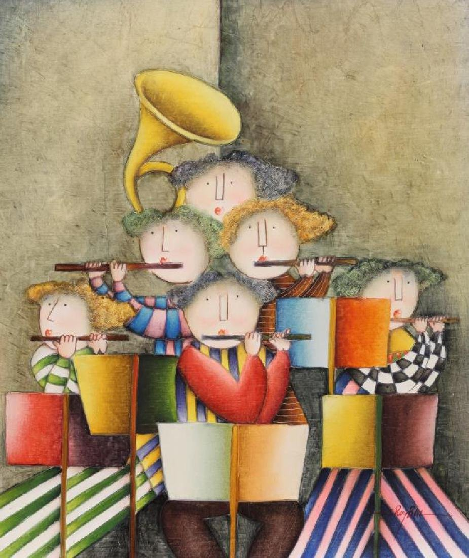 OIL PAINTING ON CANVAS OF MUSICIANS
