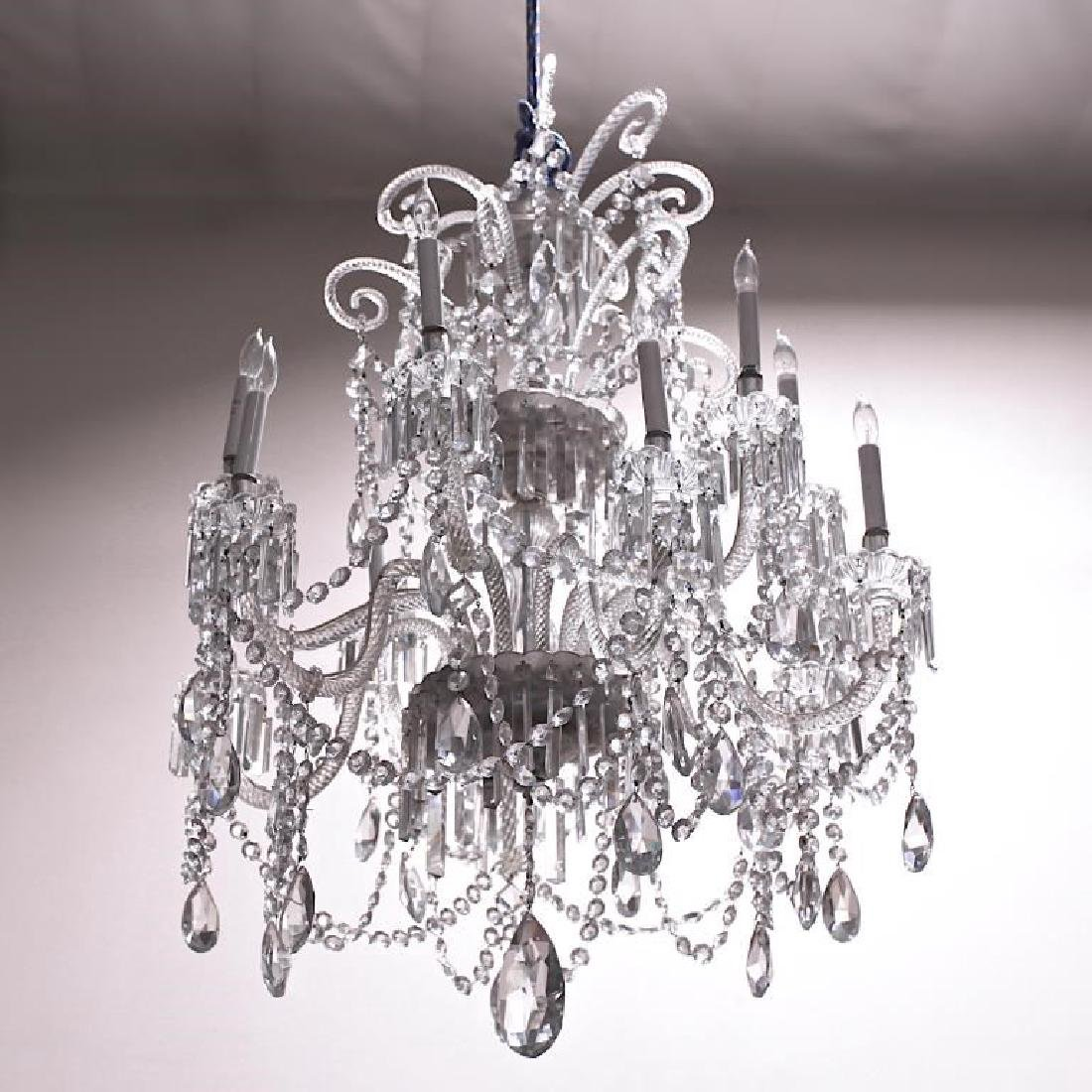 ELEGANT CHANDELIER WITH CRYSTAL DROPS