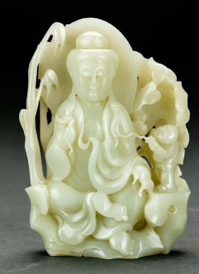 CHINESE CARVED JADE FIGURAL GROUP