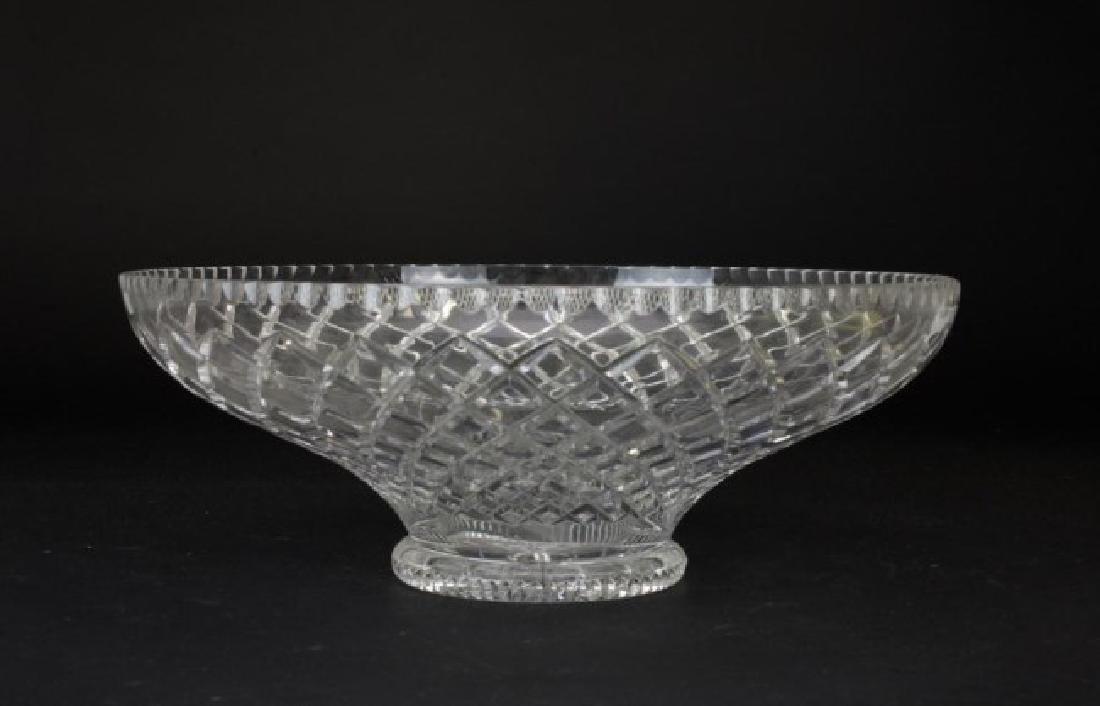 LARGE CUT GLASS BOWL - 2