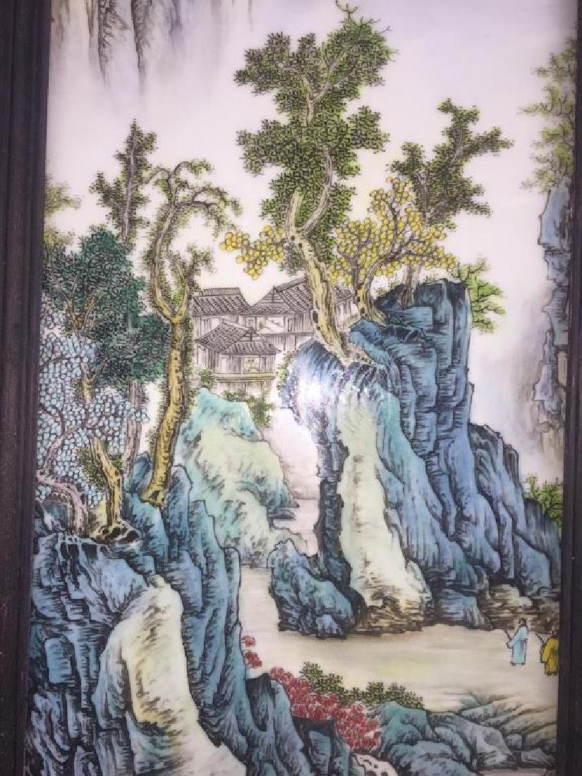 PAIR OF CHINESE PORCELAIN PANELS OF LANDSCAPE - 2