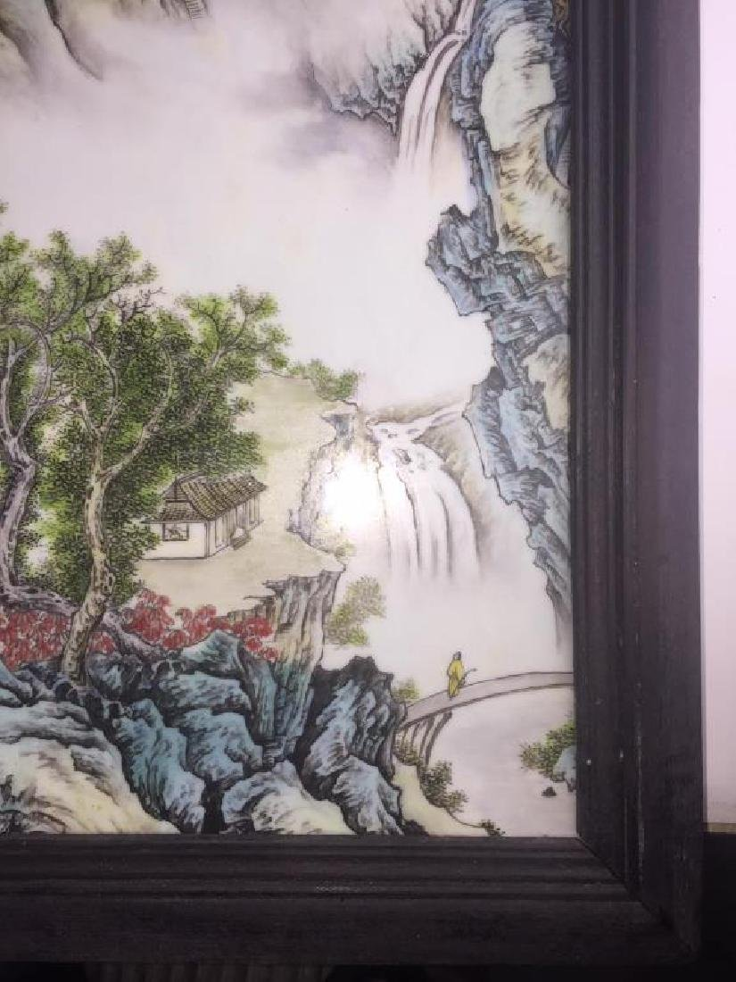 PAIR OF CHINESE PORCELAIN PANELS OF LANDSCAPE - 3