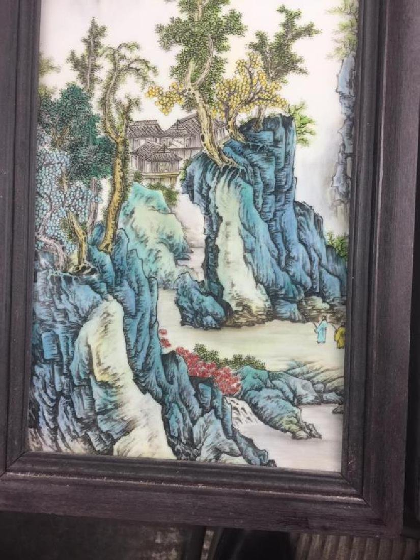 PAIR OF CHINESE PORCELAIN PANELS OF LANDSCAPE - 5