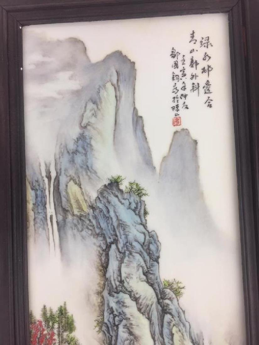 PAIR OF CHINESE PORCELAIN PANELS OF LANDSCAPE - 6