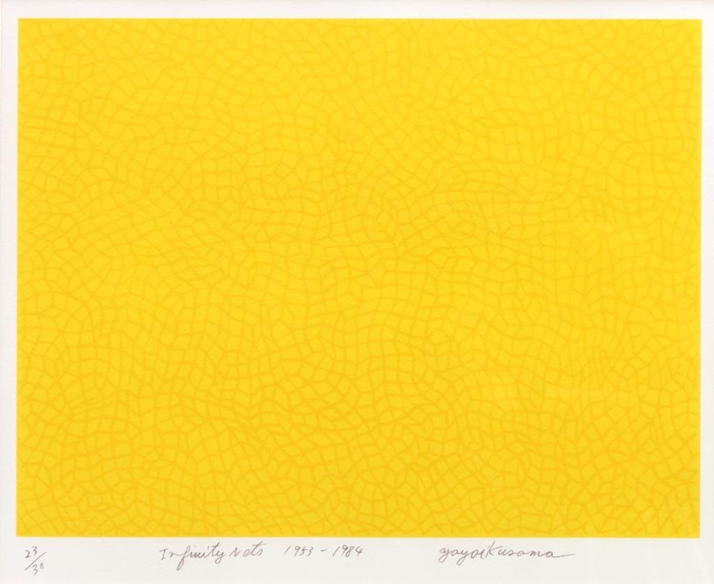 LITHOGRAPH OF INFINITY NET SIGN TO READ KUSAMA - 2