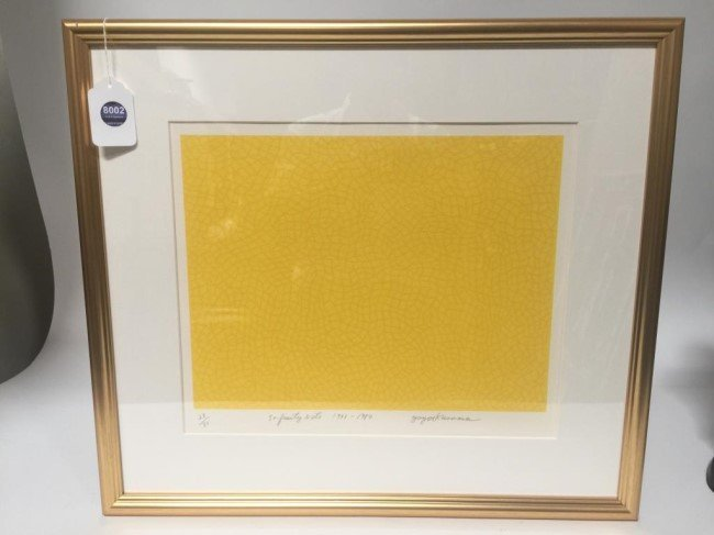LITHOGRAPH OF INFINITY NET SIGN TO READ KUSAMA - 6
