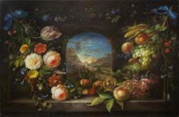 OIL ON CANVAS PAINTING OF STILL LIFE