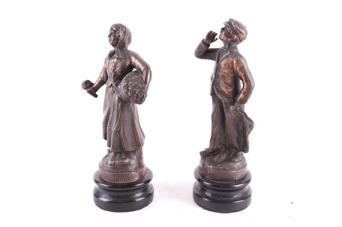 BRONZE STATUES OF A COUPLE - 2