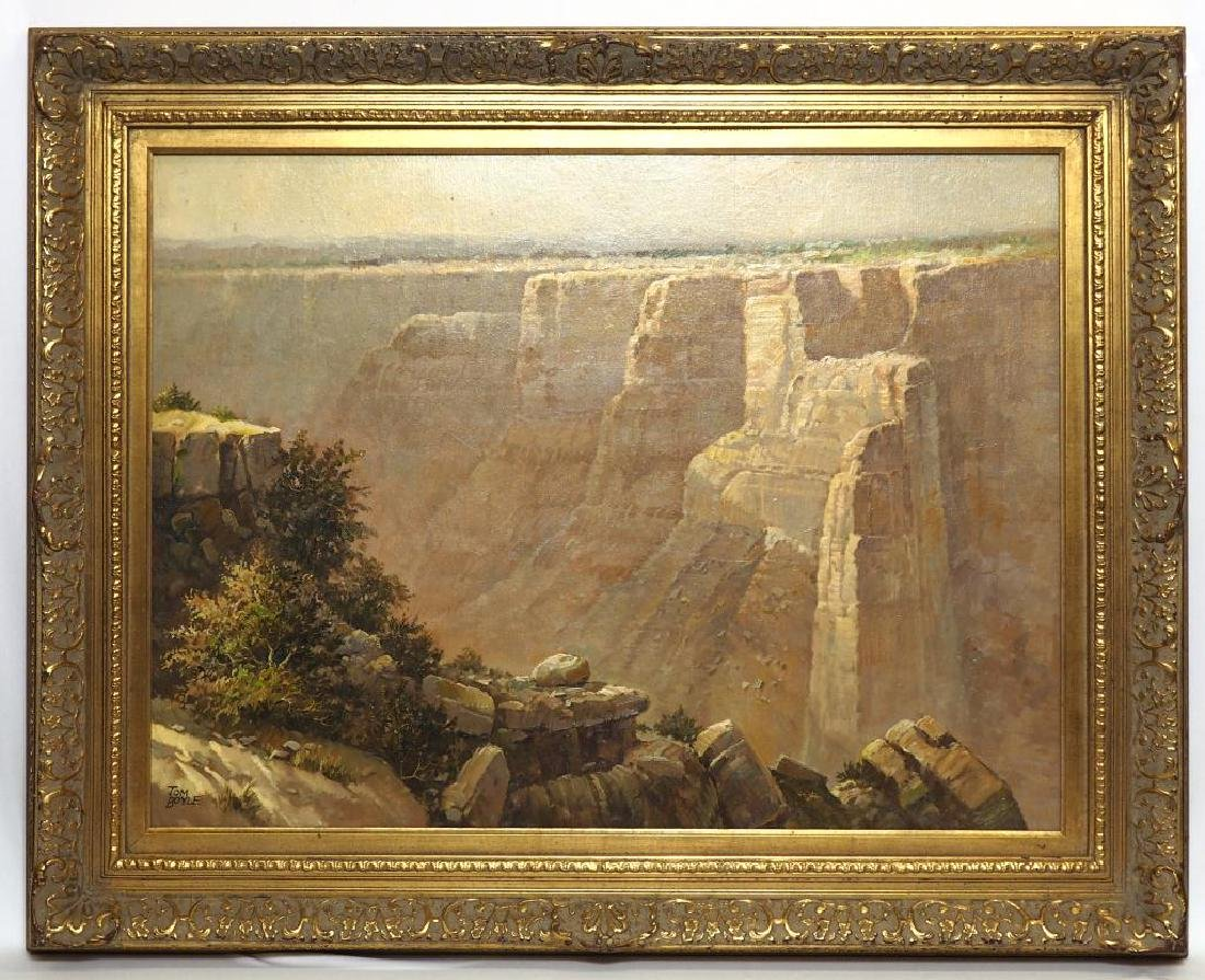 GRAND CANYON OIL PAINTING IN GILTWOOD FRAME