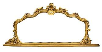 19TH CENTURY MIRROR WITH CARVED GILTWOOD FRAME